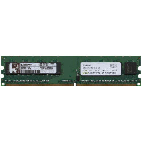 Kingston KCM633-ELC CHH 1GB 240p PC2-6400 CL6 8c 128x8 DDR2-800 1Rx8 1.8V UDIMM RFB