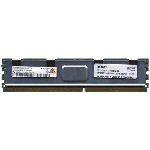 Qimonda HYS72T128420HFA-25F-B 1GB 240p PC2-6400 CL5 18c 64x8 Fully Buffered ECC DDR2-800 FBDIMM RFB
