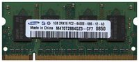 Samsung M470T2864QZ3-CF7 1GB 200p PC2-6400 CL6 8c 64x16 DDR2-800 2Rx16 1.8V SODIMM RFB W/Mix label