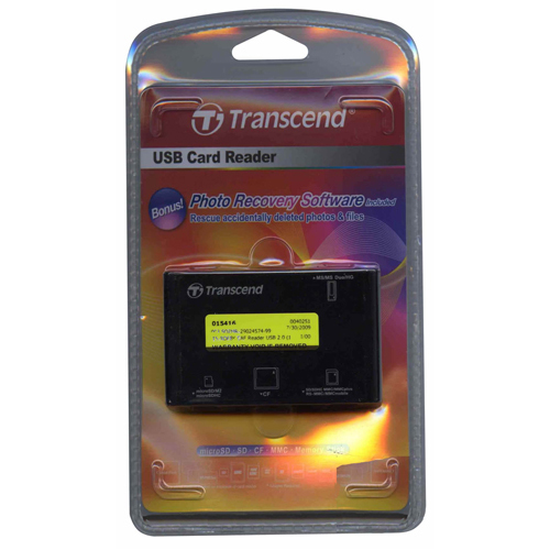 Transcend TS-RDP8K CAF 0MB USB 2.0 (14-in-1) to Flash Memory Card Reader Retail