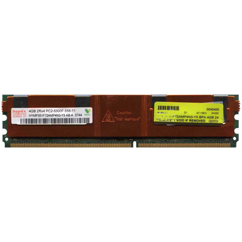 4GB 240p PC2-5300 CL5 36c 256x4 DDR2-667 2Rx4 1.8V ECC FBDIMM  RFB