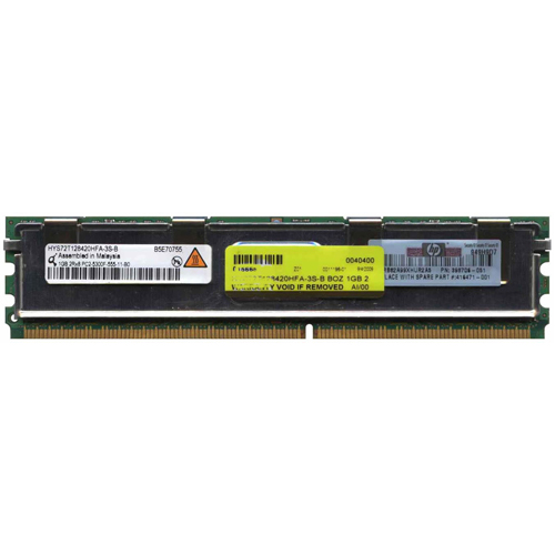 Qimonda HYS72T128420HFA-3S-B 1GB 240p PC2-5300 CL5 18c 64x8 Fully Buffered ECC DDR2-667 2Rx8 FBDIMM