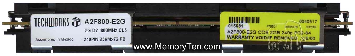 Buffalo A2F800-E2G 2GB 240p PC2-6400 CL6 18c 128x8 Fully Buffered ECC DDR2-800 FBDIMM Mac Pro-NOB
