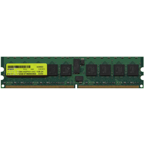 Mixed MT1GX18T1284-40ZPXX 1GB 240p PC2-3200 CL3 18c 128x4 Registered ECC DDR2-400 DIMM T008 RFB