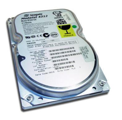 4.3GB IDE ATA66 5400RPM 3.5in x 1in 40p 66MB/s HDD
