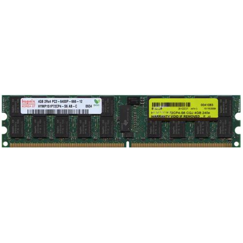 4GB 240p PC2-6400 CL6 36c 256x4 DDR2-800 2Rx4 1.8V ECC RDIMM NIB50 Korea
