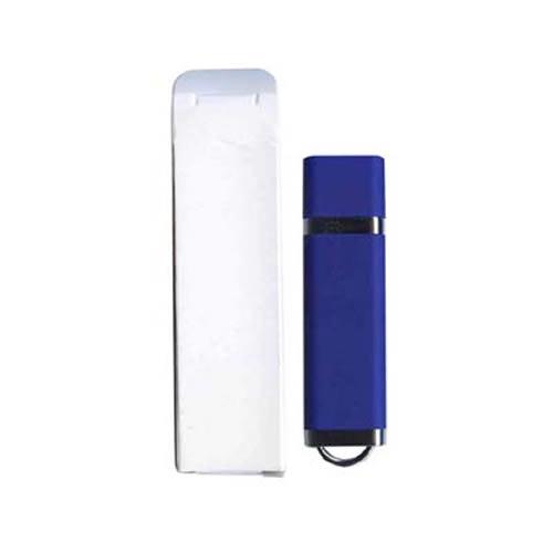 2GB USB 2.0 FlashDrive 18/3MB/s Rectangular with cap blue Bulk in White Box