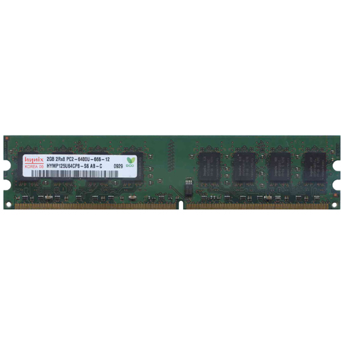 2GB 240p PC2-6400 CL6 16c 128x8 DDR2-800 2Rx8 1.8V UDIMM  RFB