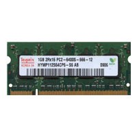 Hynix HYMP112S64CP6-S6 1GB 200p PC2-6400 CL6 8c 64x16 DDR2-800 2Rx16 1.8V SODIMM RFB W/Mix label