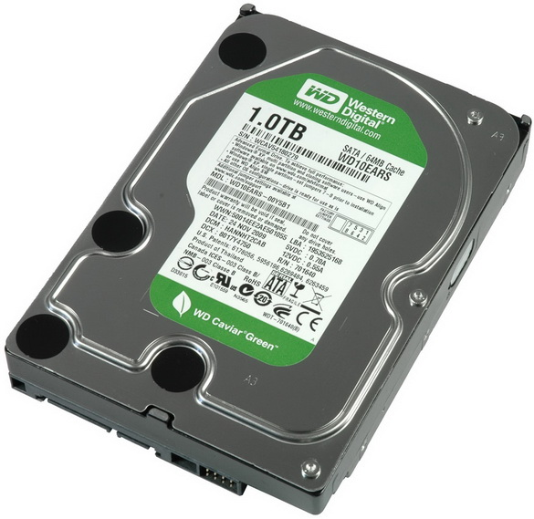 Western Digital WD10EARS HIJ 1TB SATAII 5400RPM 3.5in x 1in 15p 3.0Gb/s HDD 64MB Cache NEW