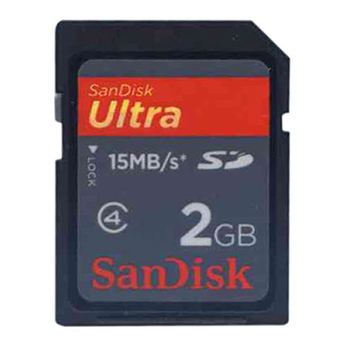 2GB 9p SD Secure Digital Card Ultra 15MB/s Class 4 Bulk