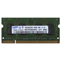 Samsung M470T2864EH3-CF7 1GB 200p PC2-6400 CL6 8c 64x16 DDR2-800 2Rx16 1.8V SODIMM RFB W/Mix label