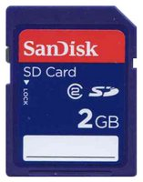 SanDisk SDSDB-2048 2GB 9p SD Secure Digital Card Class 2 Bulk RFB