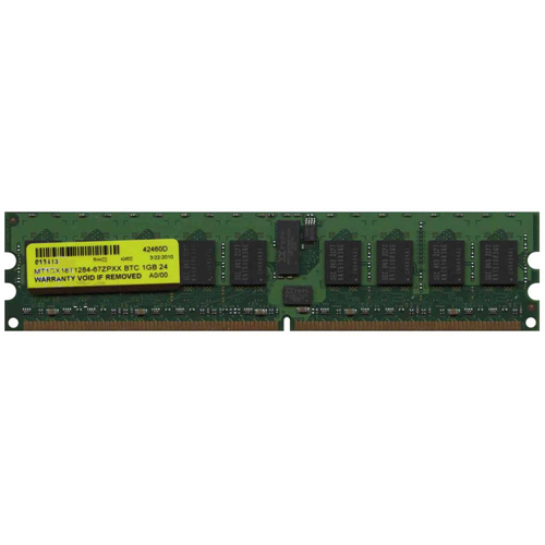 Mixed MT1GX18T1284-67ZPXX 1GB 240p PC2-5300 CL5 18c 128x4 Registered ECC DDR2-667 DIMM RFB