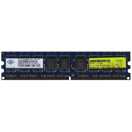 Nanya NT1GT72U8PB0BY-25D 1GB 240p PC2-6400 CL6 18c 64x8 ECC DDR2-800 UDIMM