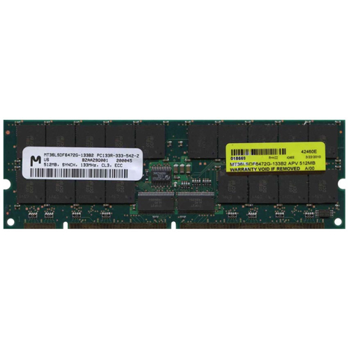 Micron MT36LSDF6472G-133B2 APV 512MB 168p PC133 CL3 36c 32x4 Registered ECC SDRAM DIMM RFB
