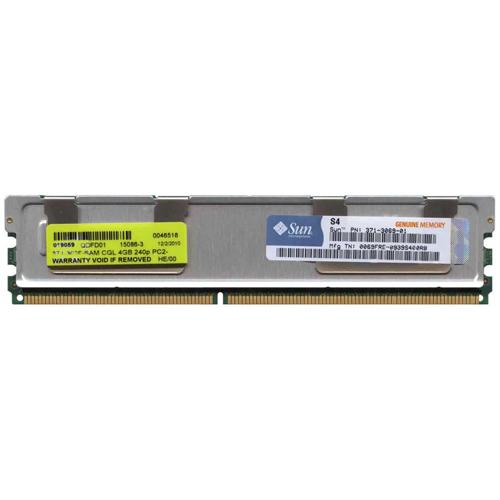 4GB 240p PC2-5300 CL5 36c 256x4 DDR2-667 2Rx4 1.8V ECC FBDIMM Sun Original