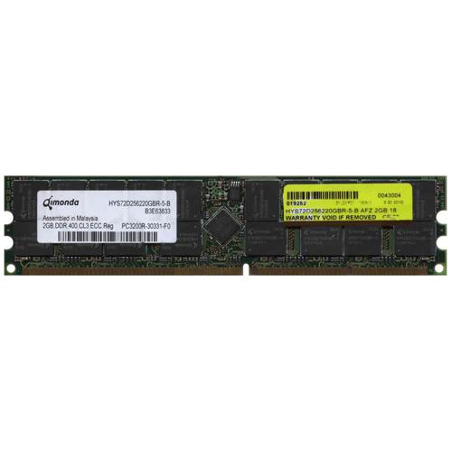 AFZ 2GB 184p PC3200 CL3 36c 128x4 DDR400 2Rx4 2.5V ECC RDIMM RFB