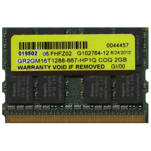 Hynix/3rd GR2GM16T1288-667-HP1Q COQ 2GB 172p PC2-5300 CL5 16c 128x8 DDR2-667 MicroDIMM PCB-GR2DM8BD
