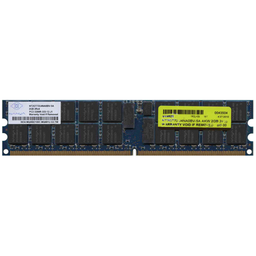 Nanya NT2GT72U4NA0BV-5A 2GB 240p PC2-3200 CL3 36c 128x4 Registered ECC DDR2-400 DIMM (dual-rank) RFB
