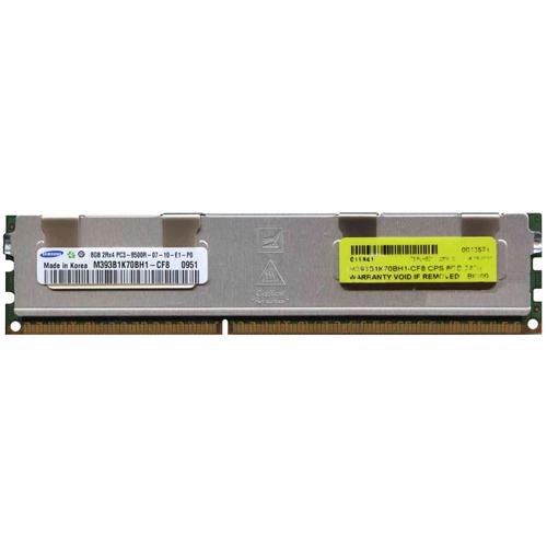 8GB 240p PC3-8500 CL7 36c 512x4 DDR3-1066 2Rx4 1.5V ECC RDIMM