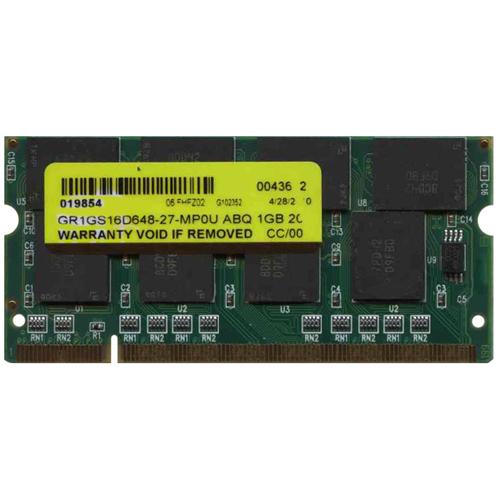 1GB 200p PC2700 CL2.5 16c 64x8 DDR333 2Rx8 2.5V SODIMM PCB-B6N824 NRB T20