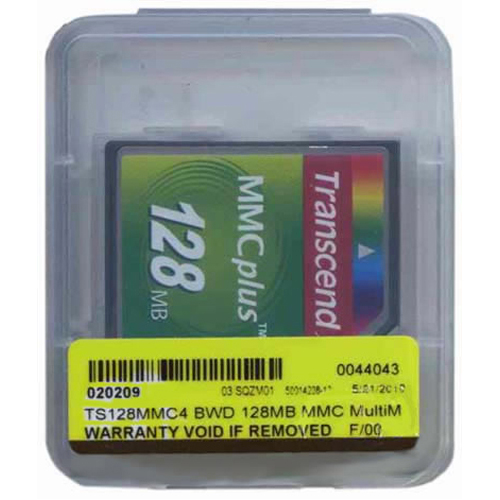 Transcend TS128MMC4 BWD 128MB 13p MMC MultiMedia Plus Card Bulk RFB