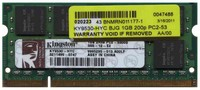 Kingston KY9530-HYC BJG 1GB 200p PC2-5300 CL5 16c 64x8 DDR2-667 2Rx8 1.8V SODIMM RFB