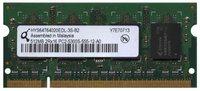 512MB 200p PC2-5300 CL5 8c 32x16 DDR2-667 2Rx16 1.8V SODIMM NOB
