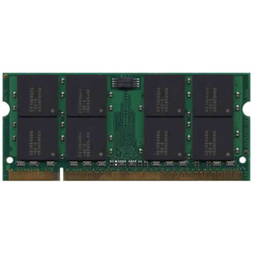 Micron MT16HTF25664HZ-667H1 2GB 200p PC2-5300 CL5 16c 128x8 DDR2-667 SODIMM  RFB