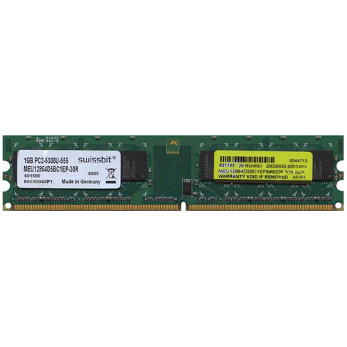 1GB 240p PC2-5300 CL5 8c 128x8 DDR2-667 DIMM NOB