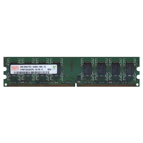 Hynix HYMP125U64CP8-S6 2GB 240p PC2-6400 CL6 16c 128x8 DDR2-800 2Rx8 1.8V UDIMM RFB  W/HP  Label