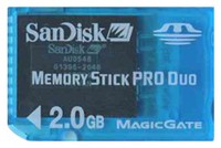 SanDisk SDMSPD-2048 BZF 2GB 10p Memory Stick Pro Duo Light Blue w/o Adapter Bulk RFB