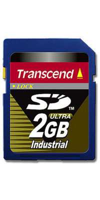 Transcend TS2GSD80I CSC 2GB SD Secure Digital Card Ultra Industrial Grade Clam