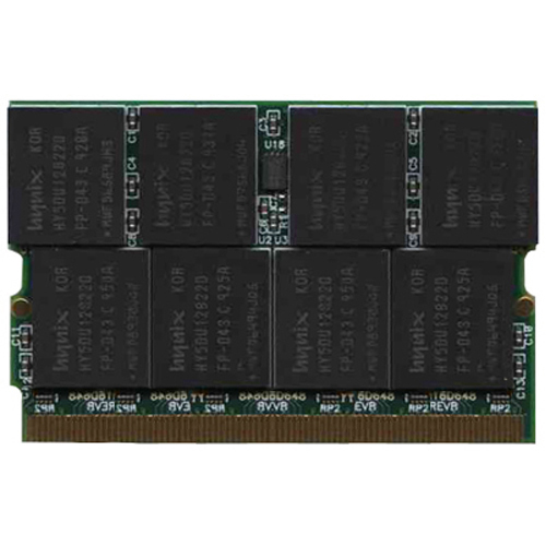 Hynix/Gigaram GR1GM16D648-27-HP0E 1GB 172p PC2700 CL2.5 16c 64x8 DDR MicroDIMM-NOB PCB - MT1GM16D648