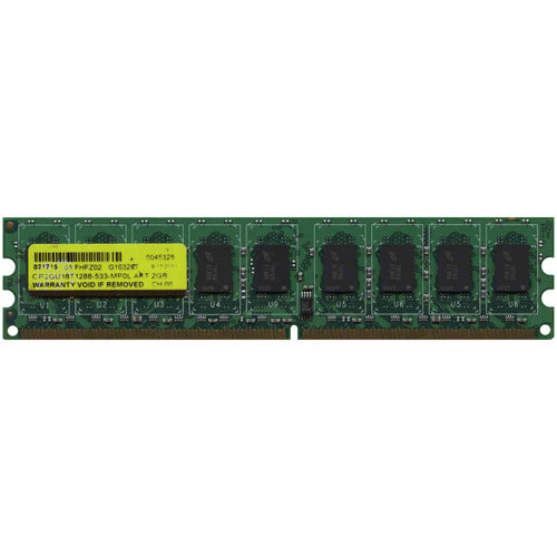 Gigaram GR2GU18T1288-533-MP0L 2GB 240p PC2-4200 CL4 18c 128x8 DDR2-533 2Rx8 1.8V ECC UDIMM  NOB