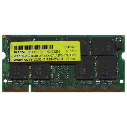 1GB 200p PC2700 CL2.5 16c 64x8 DDR333 2Rx8 2.5V SODIMM