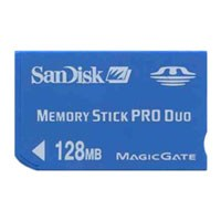 SanDisk SDMSPD-128 BSE 128MB 10p Memory Stick Pro Duo w/o Adapter Bulk