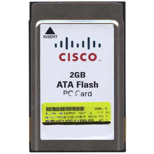 Cisco MEM-FD2GB 2GB PCMCIA ATA Flash Card Cisco Original