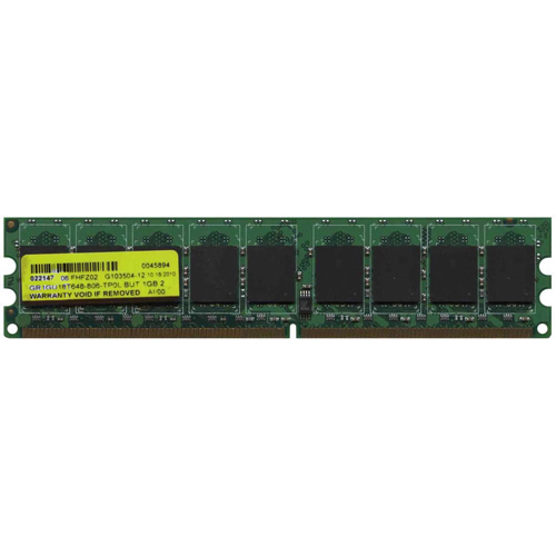 Generic/Gigaram GR1GU18T648-806-TP0L BUT 1GB 240p PC2-6400 CL6 18c 64x8 ECC DDR2-800 DIMM-RFB