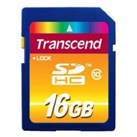 Transcend TS16GSDHC10 16GB 9p SDHC Secure Digital Class 10 Retail