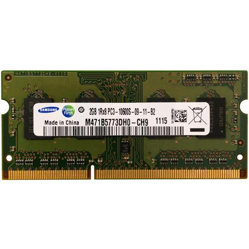 2GB 204p PC3-10600 CL9 8c 256x8 DDR3-1333 1Rx8 1.5V SODIMM