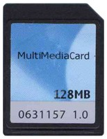 Toshiba MC1GU128NAFA-QC BPU 128MB 7p MMC MultiMedia Card with Label Bulk