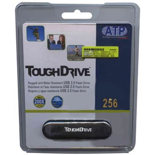 ATP AF256UFT1BK 256MB USB 2.0 FlashDrive Black Rectangular with cap ToughDrive Retail