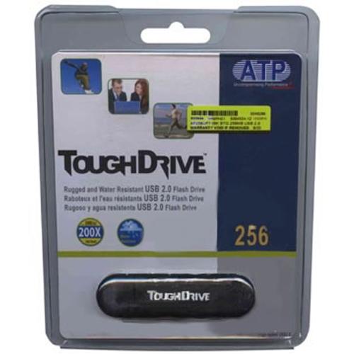 256MB USB 2.0 FlashDrive Black Rectangular with cap ToughDrive Retail