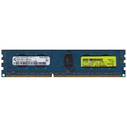 1GB 240p PC3-8500 CL7 9c 128x8 DDR3-1066 1Rx8 1.5V ECC RDIMM RFB