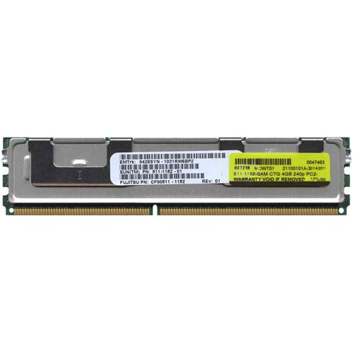4GB 240p PC2-5300 CL5 36c 256x4 Fully Buffered ECC DDR2-667 1.5V FBDIMM Sun Original