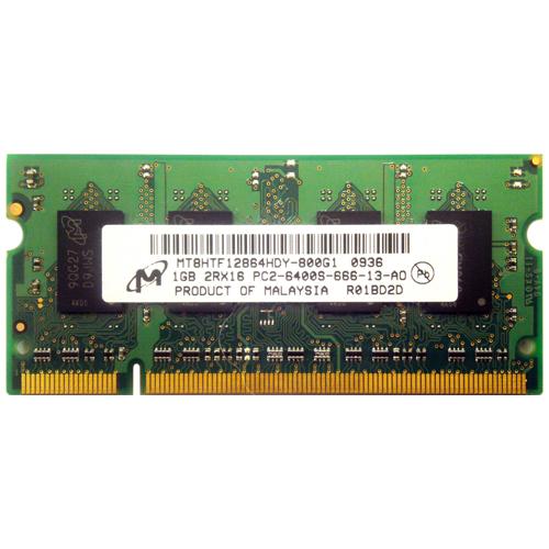 1GB 200p PC2-6400 CL6 8c 64x16 DDR2-800 2Rx16 1.8V SODIMM RFB
