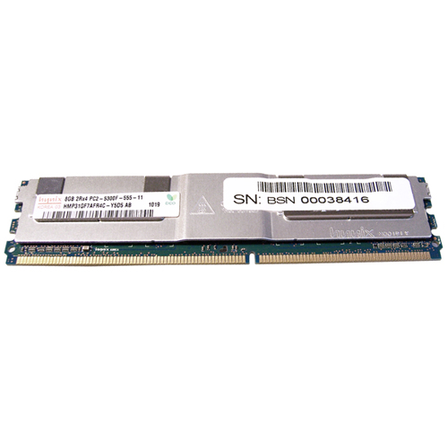 8GB 240p PC2-5300 CL5 36c 512x4 DDR2-667 2Rx4 1.8V ECC FBDIMM-RFB W/3RD Party label