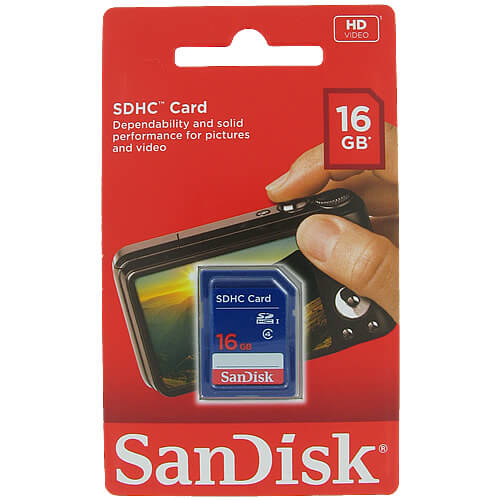 SanDisk SDSDB-016G-B35 16GB 9p SDHC Class 4 Secure Digital Card Retail